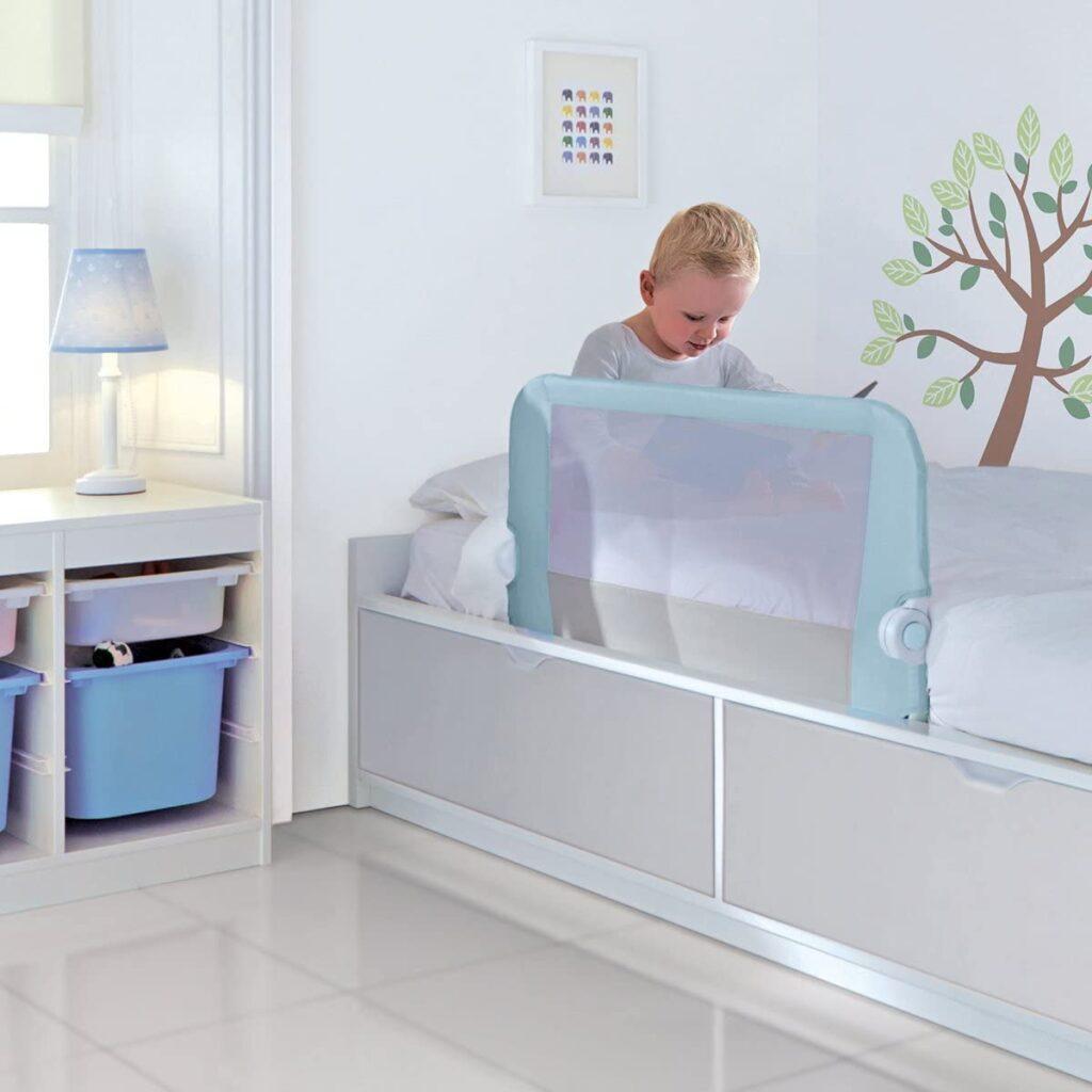 barrera de cama nido que sirve como cabecero
