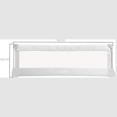 barrera de cama marca asalvo de 150 cm de largo