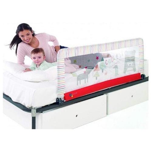 barrera abatible y de gran altura para cama de bebe