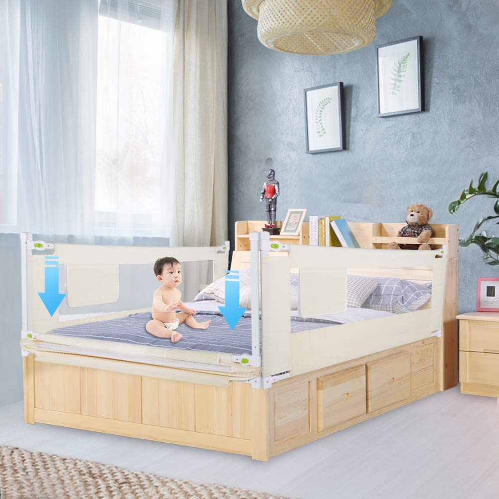 barrera de 180 cm con altura ajustable para cama