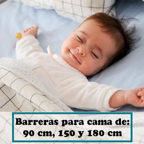 Barreras para cama de 90 cm, 150 y 180cm